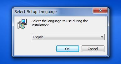 インストール時の言語選択は「English」(英語)で大丈夫