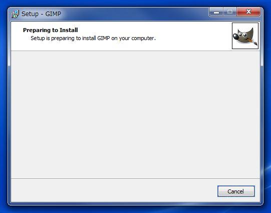 Gimpのインストール